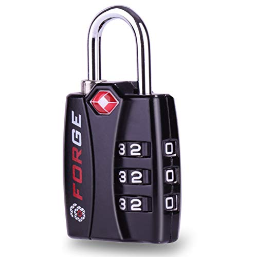 Forge TSA Lock Black-Open Alert Indicator, Alloy Body with - Import It All