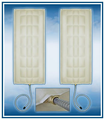 Air Chambers Replacements for Select Comfort Sleep Number DUAL QUEEN Air Chamber For Dual Hose Mattress Pump with Free Adaptor (Two Chambers)