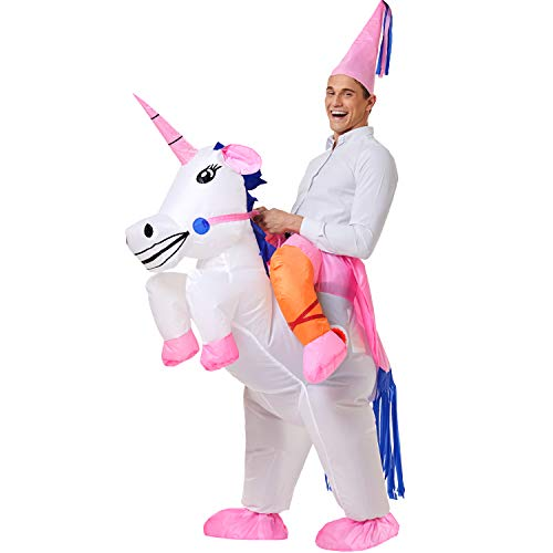 YEAHBEER Unicorn Costume Inflatable Suit Halloween Cosplay