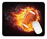 Timing&weng Burning Football Mouse pad Gaming Mouse pad Mousepad Nonslip Rubber Backing