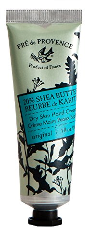 Pre de Provence 20% Natural Shea Butter Hand Cream, For Repairing, Soothing, & Moisturizing Dry Skin - Unscented (1 oz)