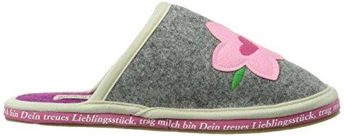 huge selection of c535c 72993 Adelheid Zuckersüss Filzpantoffel mit Gummisohle Damen Pantoffeln