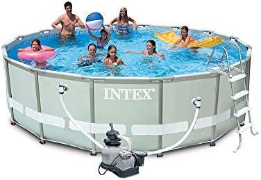 Intex 28324 Ultra Rondo I Frame Pool Set, Filtro de Arena 4.542 l/h, Escalera, Lona Protectora, Lona Protectora de Suelo, 488 x 122 cm: Amazon.es: Jardín