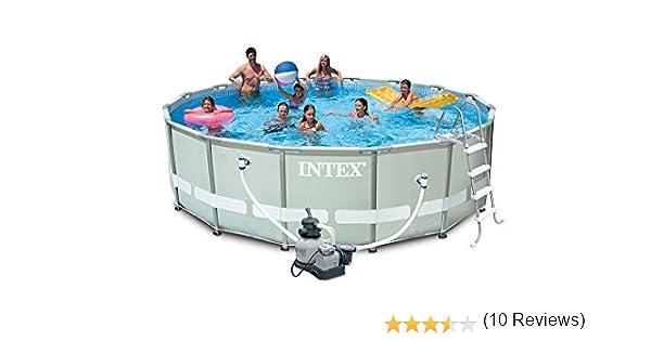Intex 28324 Ultra Rondo I Frame Pool Set, Filtro de Arena 4.542 L ...