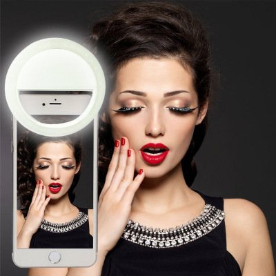 Horizon Selfie Light Ring Flash Stand Clip Case Fill LED Lights Camera Photography for iPhone 6/6s,iphone 6 plus/6s Plus iPad, Samsung Galaxy S7/S7 Edge, Galaxy Note 5, Blackberry