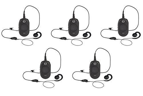 5 Pack of Motorola CLP1010 On-Site Business Two-Way Radio with Clip PTT Mic