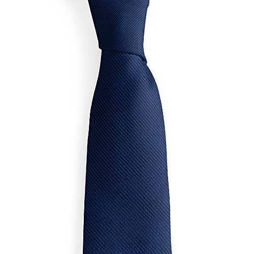 Man of Men - Premium Solid Color Collection Neckties - Luxurious Mens - Solid Blue Dark