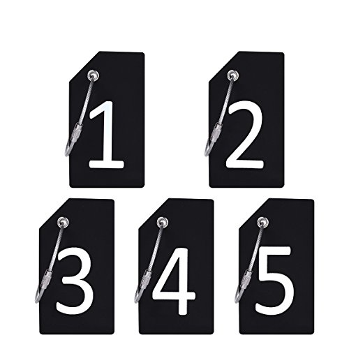 Digit 5Pcs Black Silicone Luggage Tag With Name ID Card Perfect to Quickly Spot Luggage Suitcase By CPACC