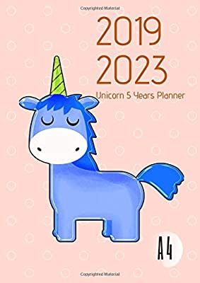 2019-2023 Five Year Planner A4 Mystical Unicorn Goals ...
