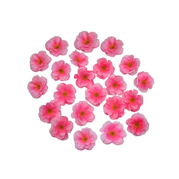 HZOnline-Artificial-Silk-Cherry-Blossom-Flower-Heads-Fake-Fabric-Sakura-Floral-Head-decor-for-Bridal-Hair-Clips-Headbands-Dress-DIY-Accessories-Wedding-Party-Supply-Table-Decorative-100pcs-Pink