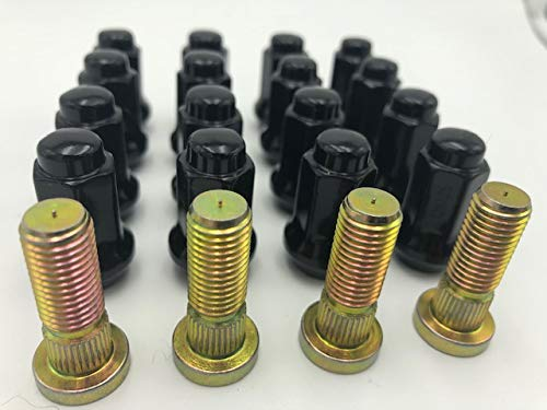 Arctic Cat ATV Wheel Studs H.D. by R.A.D. WITH Black Tusk LUG NUTS H.D for DVX 90, 300, TRV 400, 500, 700, WILDCAT, PROWLER 100% MADE IN THE U.S.A