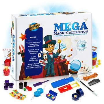 Mega Magic Tricks Set for Kids. Perform Hundreds Today's Most Exciting Tricks. Magic Kit with Instructional DVD - First Magic Set