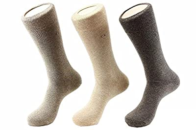 Calvin Klein Men's 3-Pack Dress Crew Socks Sz: 10-13; Fits 7-12