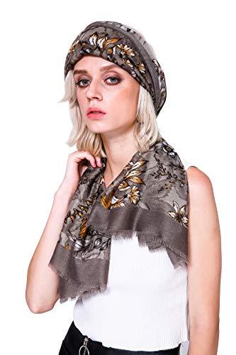 Longwu Ladies Gift Idea Cotton Long Scarf Women's Shawls Soft Kerchief Summer Neckerchief Women's Wraps Spring Autumn Khaki