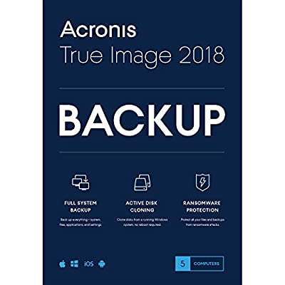 Acronis True Image 2018-5 Computer Backup Software (5-Users) from Soft Pack