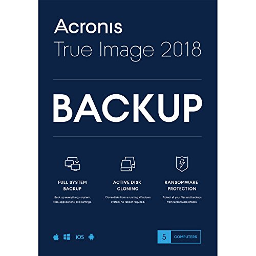Hard Drive Backup Software - Acronis True Image 2018-5 Computer Backup Software
