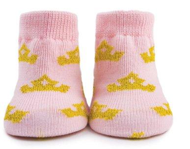 La princesa de zapatillas de calcetines de bebé - 6 pares en caja