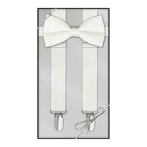 Suspender & Bow Tie Set (Kids, Ivory)