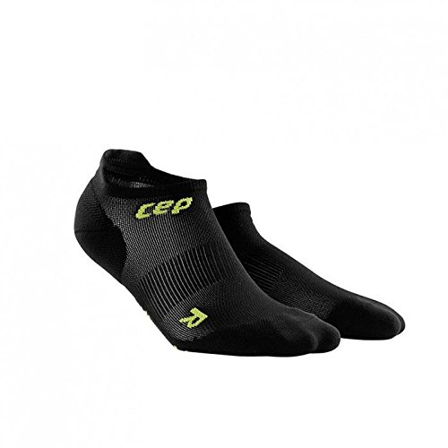 CEP WP46LC3 Ultralight no-show Socks, Black/Green, Size III
