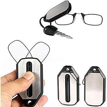 Amazon.com: Gafas de lectura con llavero ThinOPTICS, negro ...