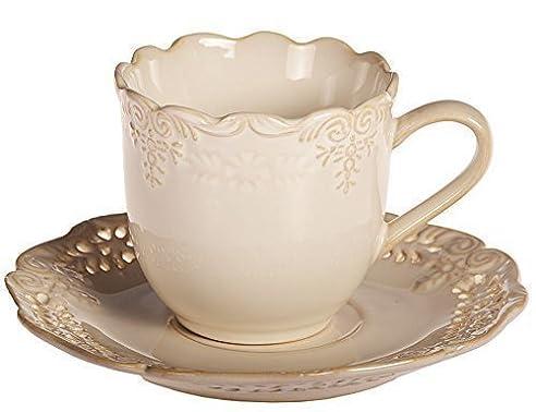 Nice Service AMELIA Geschirrset Kaffeeservice Tafelservice Porzellan Geschirr  (12tlg. Tasse M. Untertasse)