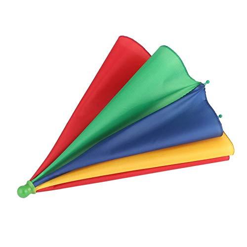 ningbao771 Portable Fishing Camping Beach Umbrella Hat Multicolor Cap Sun Rain Umbrella