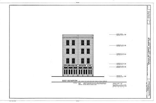 - Blueprint Diagram HABS IOWA,31-DUBU,13-I- (sheet 2 of 3) - Commercial & Industrial Buildings, Dubuque Seed Company Warehouse, 169-171 Iowa Street, Dubuque, Dubuque County, IA 12in x 08in