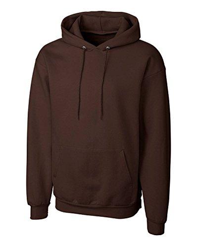 - Cutter & Buck Mens Clique Basics Flc P/O Hoodie S-Xxl, Dark Chocolate Brown-XXL