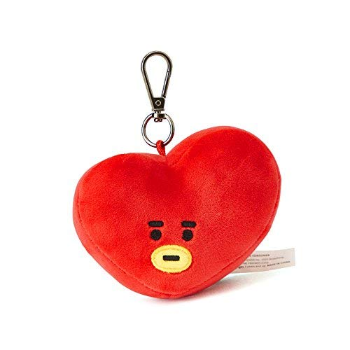 LINE FRIENDS BT21 Official Merchandise TATA Character Doll Face Keychain Ring Cute Handbag Accessories