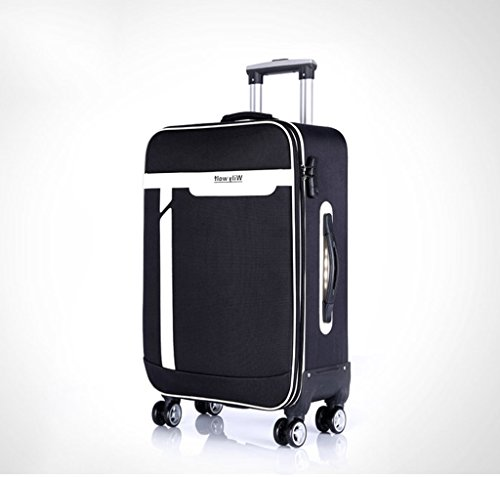 HWZQHJY Luggage Trip Expandable 4 Wheeled Packing Case Suitcase - Rolling Luggage for Men and Women - Anthracite (Color : Black, Size : 392466cm)