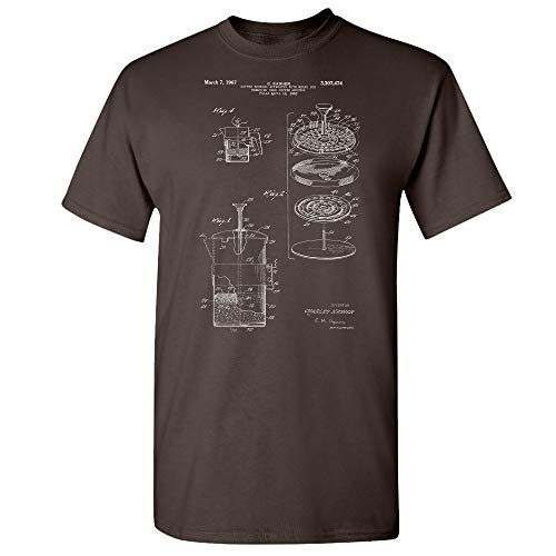 Patent Earth French Press Coffee Maker Cafetiere T-Shirt, Barista Shirt, Pour Over, Coffee Brewer, Coffee Shop, Restaurant Dark Chocolate (2XL)