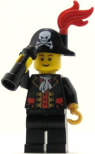 LEGO Pirates Minifig Captain Bicorne Hat with Skull and Plume