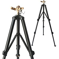 SOMMERLAND Brass Impact Tripod Sprinkler for Garden and Lawn with Heavy Duty Brass Impact Sprinkler Head(16-37 w/head) (1-PK)-color may vary