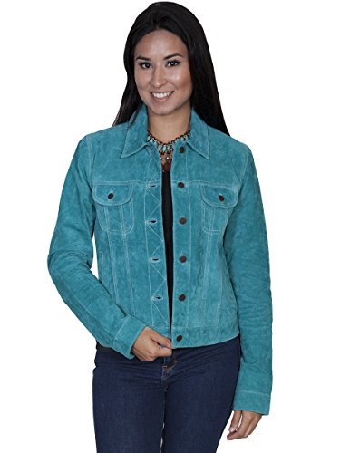 Scully Suede Jean Jacket - Turquoise