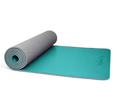 Youphoria Yoga Premi-OM Yoga Mat 24 x 72-6mm - Absorbent Non Slip Yoga Mats Home Travel