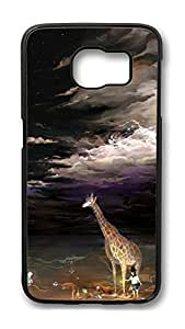 Brian114 Case, S6 Case, Samsung Galaxy S6 Case Cover, Cute Animals Zebra 31 Retro Protective Hard PC Back Case for S6 ( Black )
