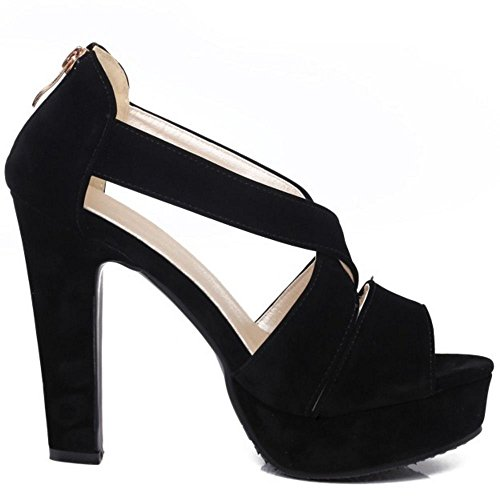 Piattaforma Black Sandali Mode 2 Donna Zanpa qZRfnzpZw