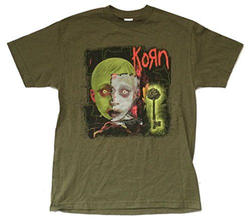 Korn Key See You On The Other Side Green T Shirt Album Art (L) (Printed T-shirts Korn)