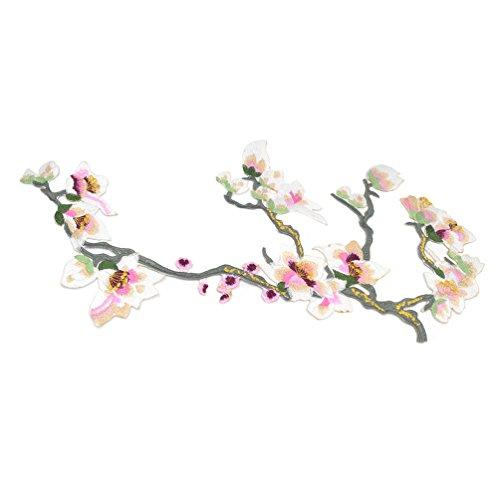 Lychee Orchidee Blumen Aufbügelbilder Stickerei Polyester Chinesisches Etuikleid