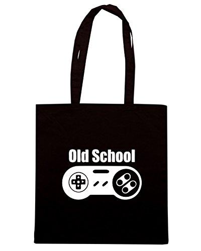 T-Shirtshock - Bolsa para la compra TR0107 Old School Nintendo T-Shirt Negro
