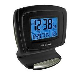 Clock Alarm LCD Digital Atomic