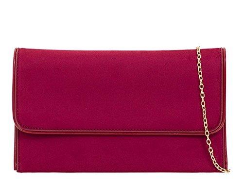 à pochette Rouge DIVA haute pour Sac cuir Bordeaux pour NEUF Medium main Fête habillé 'S simili femme qWnfCPW