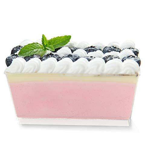 Tosnail 5oz Rectangular Dessert Appetizer Tumbler Cups - 50 Pack