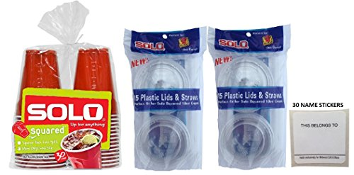 squared ounce plastic straws stickers product image