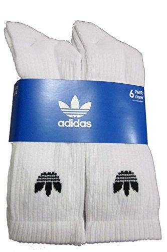 ADIDAS Originals 6 Pack Trefoil Crew Socks (White)