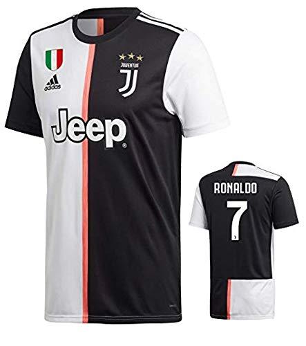 Juventus Football - soccer jersey Juventus Home 2019-2020 Ronaldo #7 Men's (Medium) Football Home Kit 2019 2020