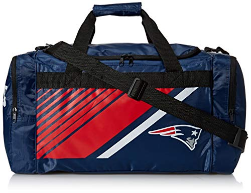 - New England Patriots Border Stripe Duffle Bag