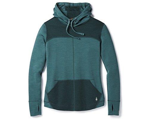 SmartWool Women's Merino 250 Hoodie Mediterranean Green Small - Stitched Logo Hoody Sweatshirt