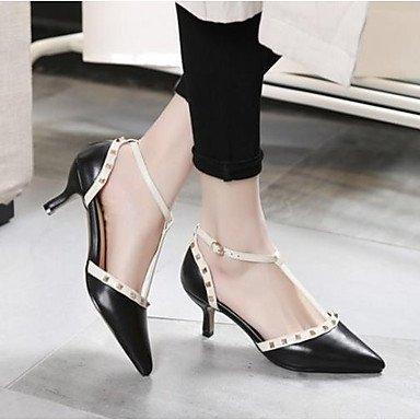 Escarpin Heel Chaussures Femme ggx Cuir Rose LvYuan 5 pink Talons à Eté Kitten Basique cm Décontracté à blushing 7 Basique Noir Escarpin OxFXEqqWw5