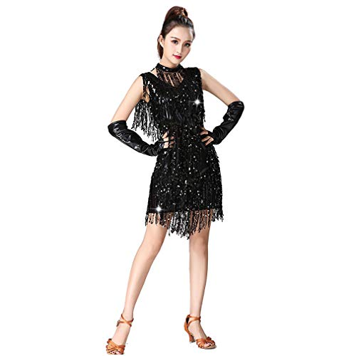 Latino Themed Costumes - Latin Dance Dresses Sequin Tassels Prom